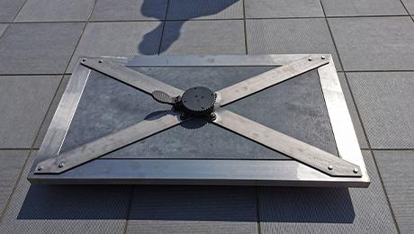Création de pied de parasol métallique près de Valenciennes