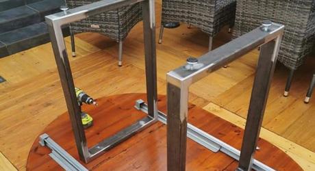 Création de pieds de table en métal près de Valenciennes